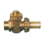 Drain valve with hose holder