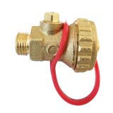 Drain ball valve with hose holder