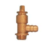 Drain valve with hose union 90°