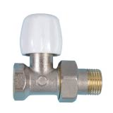 Double-tight straight valve for steel tube