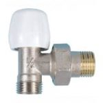 Double-tight elbow valve for copper tube nickel-plated version