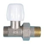 Double-tight straight valve for copper tube nickel-plated version