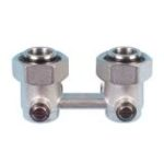 Double elbow nickel-plated valve